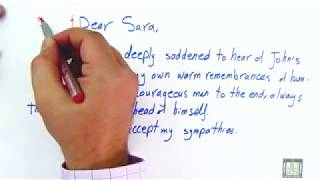 WRITING - Writing Letters of Condolences by study corner