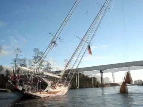 Watch A 24 Metre Tall Boat Somehow Clear A Bridge That's Way Too Low