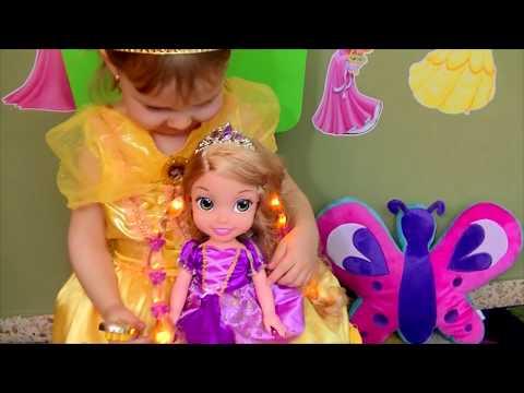 """Кукла """"Принцесса Диснея"""" со  светящимися волосами - Рапунцель  Rapunzel Disney Princess"""
