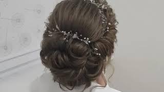 preview picture of video 'романтическая прическа для невесты'