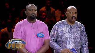 FAST MONEY Celebs might be able to give $5000 away to charity of their choice!! | Family Feud Ghana