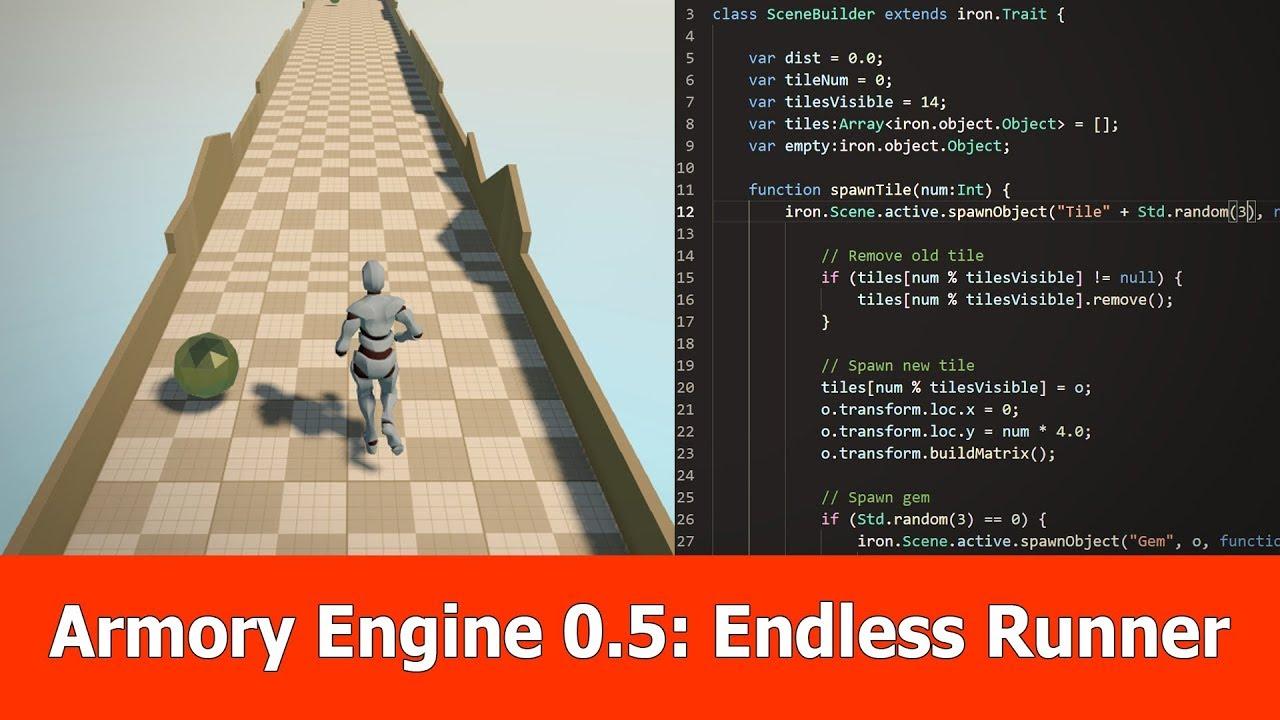Armory Engine 0.5 Endless Runner Tutorial