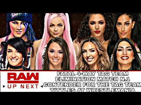 WWE 2K19 RAW FATAL 4-WAY TAG TEAN ELIMINATION MATCH N.1 CONTENDER FOR THE TAG TEAM CHAMPIONSHIPS
