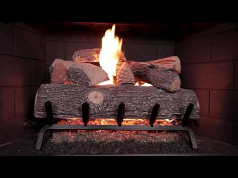 Rasmussen Lone Star Gas Logs on Flaming Ember Burner
