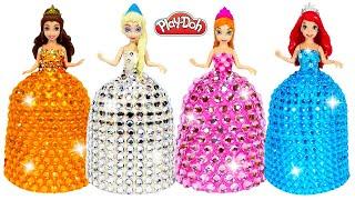 DIY How To Make Play Doh Super Sparkle Dresses For Disney Princesses
