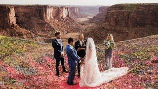 Парочка поженилась на высоте 120 метров ★ У Вас Перехватит Дыхание От этих Фото