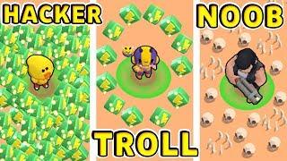 HACKER vs TROLL vs NOOB !!! Funny Moments Brawl Stars # 24
