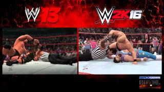 """WWE 2K16 """"Austin 3:16"""" vs. WWE '13 """"Attitude Era"""" - Ultimate Comparison"""