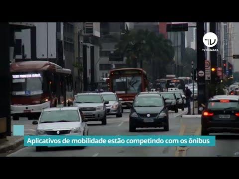 Aplicativos de mobilidade estão competindo com os ônibus