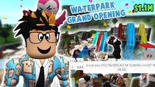 I finally did the GRAND OPENING of my BLOXBURG WATERPARK... it was chaotic