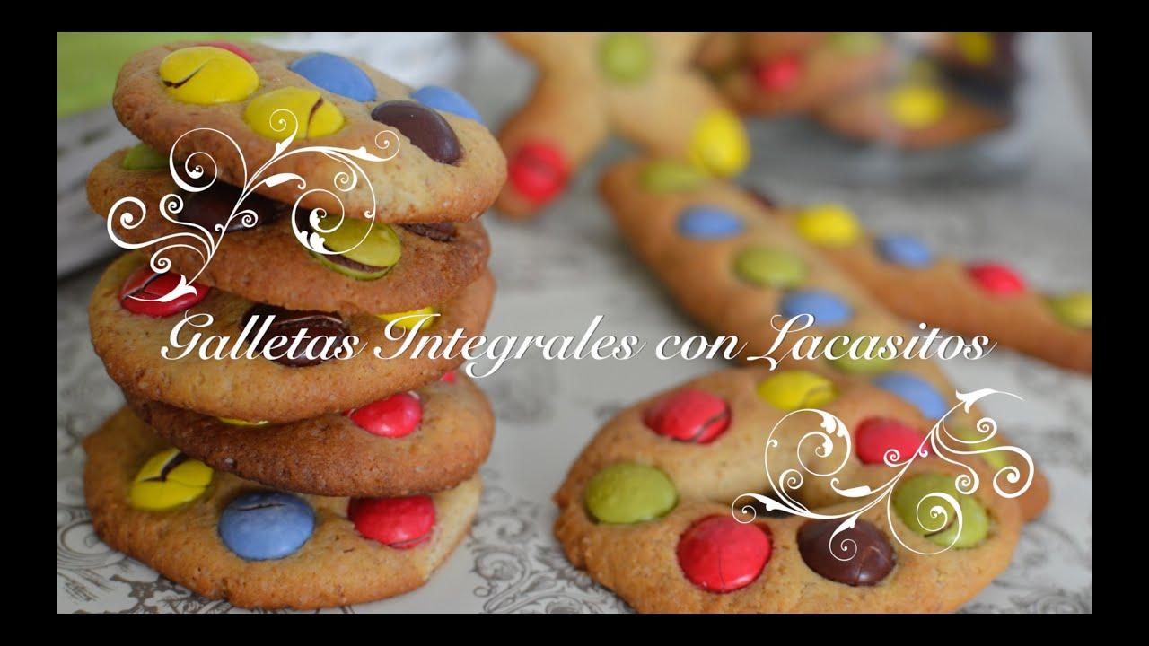 Galletas Integrales con Lacasitos o cookies faciles | Galletas con Lacasitos por chef de mi casa