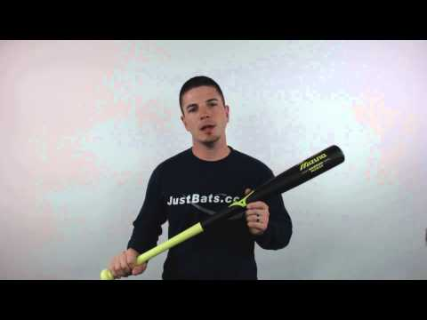 Mizuno Classic Bamboo Baseball Bat: MZB62 Black/Lime