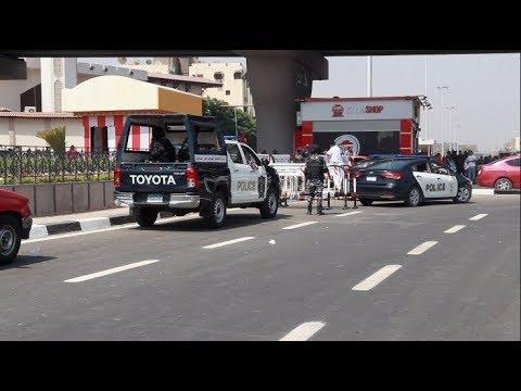 العرب اليوم - شاهد: تعزيزات أمنية مُكثّفة قبل ساعات من انطلاق أمم أفريقيا
