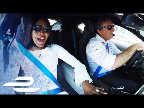 Naomi Campbell's Reaction To Formula E Monaco Lap Is Priceless!