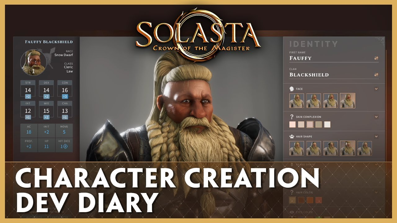 Dev Diary: Character Creation