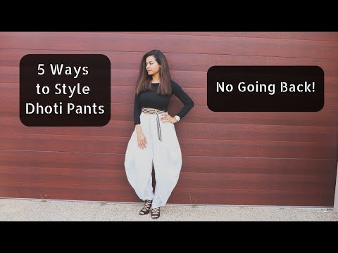 Different Ways to Style Dhoti Pants| gulz_Beauty