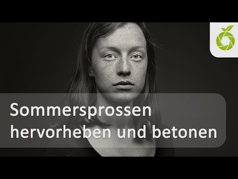 Die Sommersprossen im Make-Up
