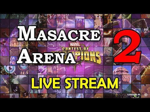 Masacre Arena - Round 2 - Part 2 | Marvel Contest of Champions Live Stream