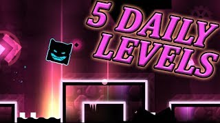 5 Amazing Daily Levels: Mirage, Devotion, Felicity, etc. | Geometry Dash