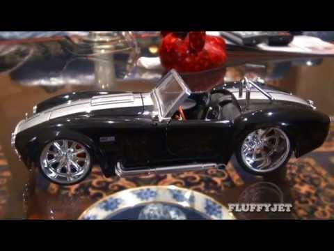 Shelby AC Cobra Diecast Car Collectible - Cars Toy Collection Auto Review Top Gear Performance