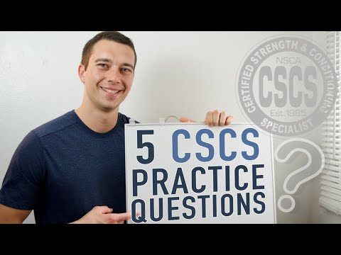 5 CSCS Practice Questions! (NSCA CSCS Exam Preparation ...