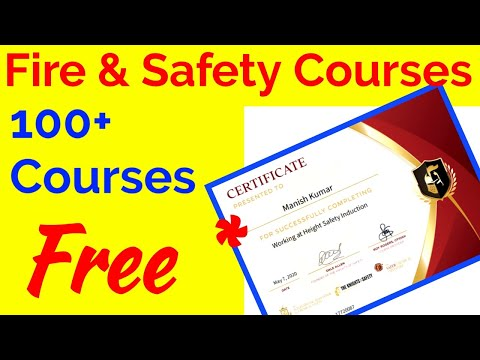 100 Free fire and safety online courses - YouTube