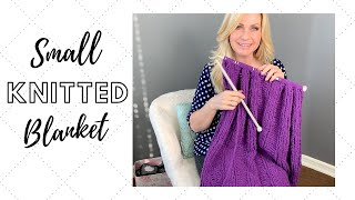 Small Knitted Blanket | Easy for Beginners!