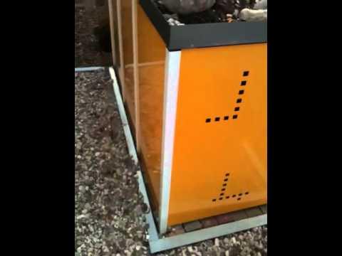 Mülltonnenbox aus Metall