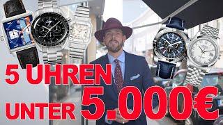 5 Uhren unter 5.000€ | Rolex | Breitling | Omega Colognewatch | Einsteiger Uhren