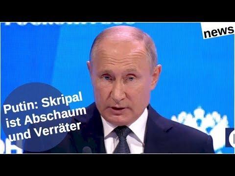 Putin: Skripal ist Abschaum und Verräter [Video]