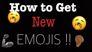 HOW TO GET IPHONE NEW EMOJIS (IOS 13) !