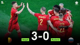 Highlights uit de match België - Rusland: 3-0