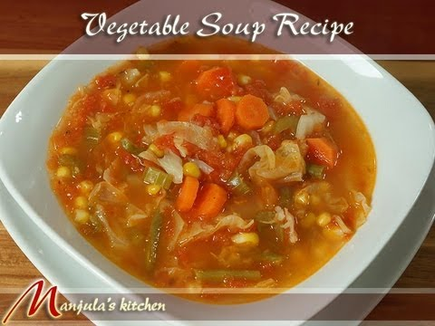 Video Vegetable Soup Recipe by Manjula