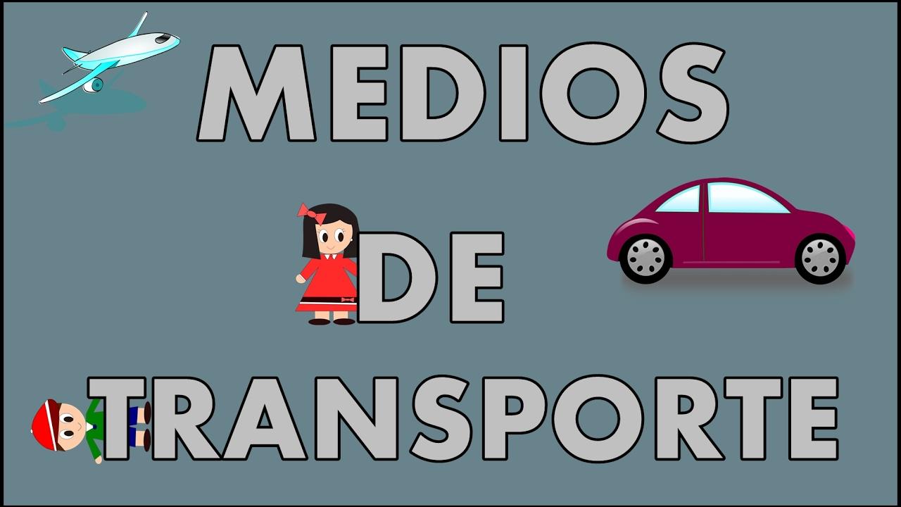 Medios de transporte para niños y sus sonidos - Means of Transport in Spanish for kids