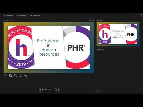 SPHR/PHR Certification: Preparation Course - YouTube