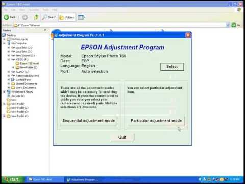 Free Adjustment Program Epson P50