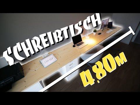XXL SCHREIBTISCH DIY - Perfect Work Space selber bauen | EASY ALEX