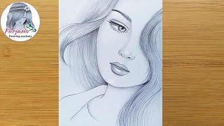 How To Draw A Girl For Beginners || Pencil Sketch || Bir Kız Nasıl çizilir