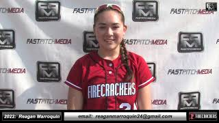 2022 Reagan Marroquin Athletic, Speedy Outfielder Softball Skills Video - Firecrackers EP