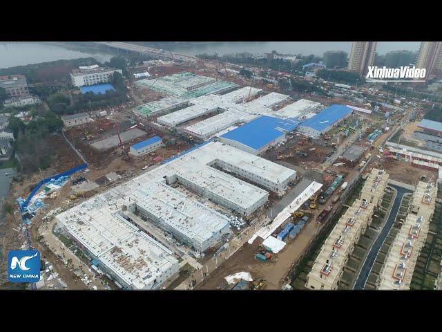 Видео: инженеры Уханя сумели построить гигантский госпиталь за 10 дней