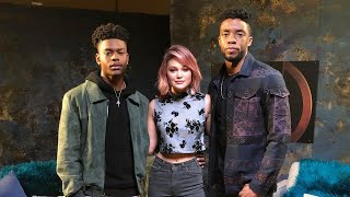 Chadwick Boseman Sits Down with Marvel's Cloak & Dagger's Aubrey Joseph & Olivia Holt (Part 2)