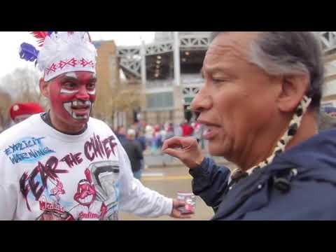 Cleveland Indians fan vs Native American