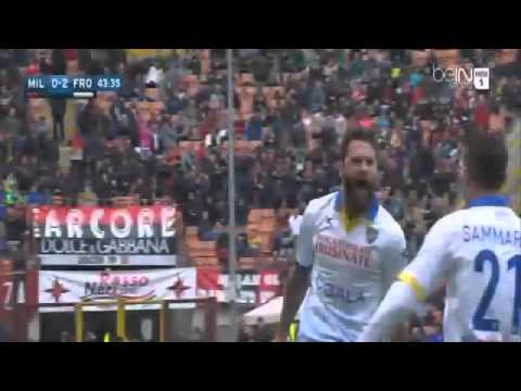 Oliver Kragl Amazing Free Kick Goal AC Milan vs Frosinone 0 2 Serie A 2016