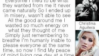 Christina Aguilera - Keep On Singin' My Song (Lyrics On Screen)