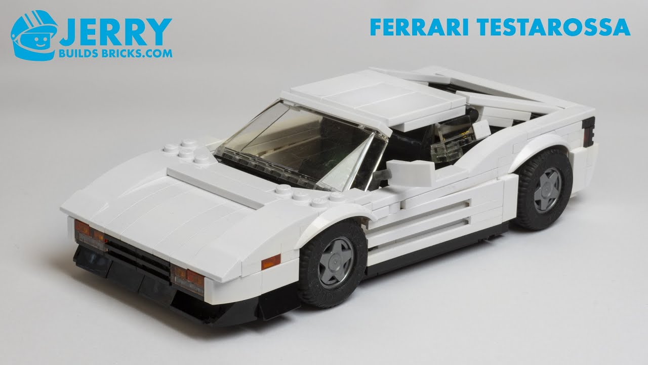 LEGO Ferrari Testarossa instructions (MOC #115)