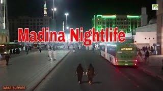 Traveling Saudi Arabia Streets NightLife In Madina  2019