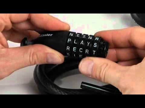 Screen capture of Operating Master Lock 8220D Password Combination Cable Lock