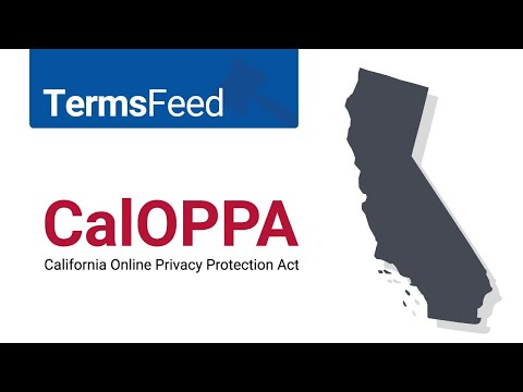 CalOPPA California Online Privacy Protection Act