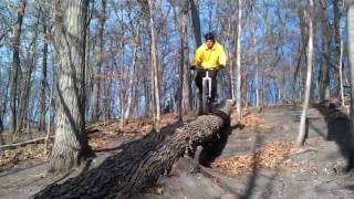 preview picture of video 'Chaska Mountain Biking - Log Ride at Mammoth'