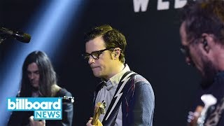 Rivers Cuomo Reacts To Weezer Sketch On 'SNL' | Billboard News